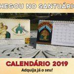Calendário 2019 do Santuário Tabor da Esperança já está disponível