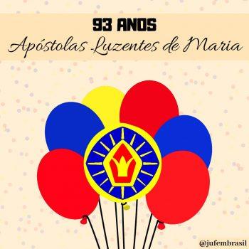93 anos das Apóstolas Luzentes de Maria